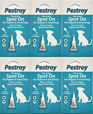 6 Pestrroy Flea & Tic treatment Puppies & Small Dogs *SPECIAL OFFER 5 + 1 FREE!*