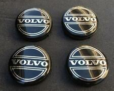 New 4pc Set Of 4 Volvo Black Center Wheel Hub Caps Cover Logo Rims 3546923 Fits Volvo
