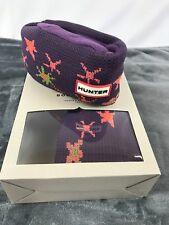 Hunter Boot Socks Knit Fleece size Medium Multicolor Purple