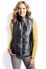 LANDS' END PS(6-8) Slate Shimmer 600 Fill Power Down Vest