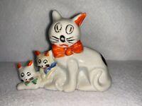 Vintage Cat with Kittens - Ceramic, Japan