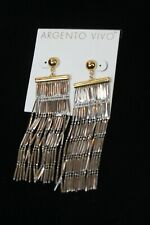 Argento Vivo Earrings gold plated chandelier Statement  women's