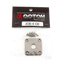 NEW Gotoh JCB-4 Les Paul Jack Plate for Les Paul Guitar - COSMO BLACK