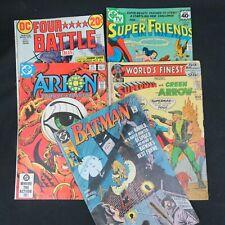 DC Comics Lot of 5 Battle Tales Arion Superman Batman 1972-1990