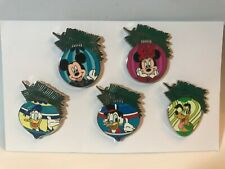 Disney's 2010 Hidden Mickey Christmas Ornament 5 Pin Set