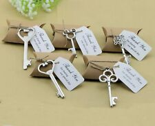 50x Vintage Key Bottle Opener Tags Party Gifts Wedding Favors