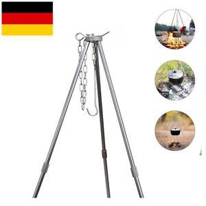 Dreibein Schwenkgrill Teleskopgestell Höhenverstellbar Gestell Für Gulaschkessel