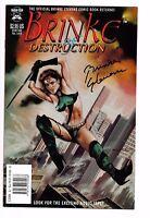 Brinke Of Destruction #1 NM- (High Top ) SIGNED by Brinke Stevens