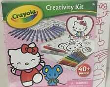 Hello Kitty Crayola Art set 40 Piece Creativity Kit with Carry Case Ages 3 & up