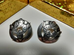 Earrings KIT CARSON Stamped STERLING SILVER Cactus SIGNED Posts