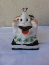 Old Clown Head On Book Ashtray With Bee - Made In Japan
