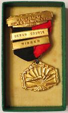 1946 Maine State Rifle & Pistol Assn Dewar Course Winner Medal Shooting