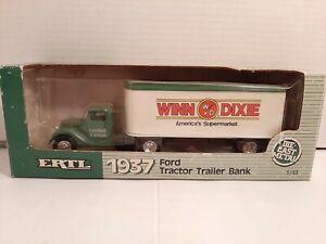 ERTL 1937 FORD TRACTOR TRAILER BANK WINN DIXIE NEW NIB E2278