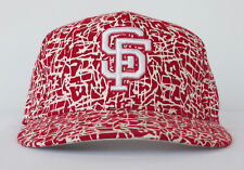 SF Giants RED PAINT CRACKLE SPLATTER COOPERSTOWN COLLECTION Baseball Hat 7 1/4