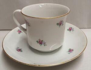 Vintage Moritz Zdekauer MZ Altrolau Porcelain Cup & Saucer 1918-45 Czech Bohemia