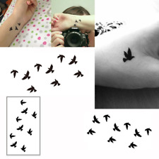 2pc Wrist Flash Tattoo Fake Tatto Birds Temporary Tattoo Sticker For Body Art