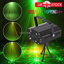 LED de escenario Iluminación Mini R&G Proyector Láser Disco Fiesta Discoteca Dj Luz Reino Unido Stock