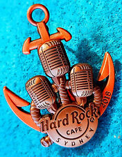SYDNEY 2018 3D SHIPS ANCHOR ANTIQUE MICROPHONES 2 TONE METAL Hard Rock Cafe PIN