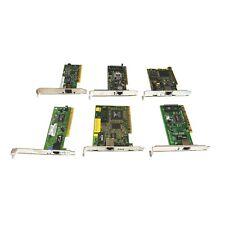 Ethernet Cards Lot of 6 PCI Network RJ-45 10/100 Fast Ethernet 3Com DLink Intel