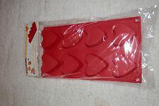 1x Silikon Backform Muffin form 8x Herz ! Gipsform Eisform Cupcakes NEU