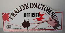 1 rally d'automne ottobre 1989 , targa, rally plate, club renault