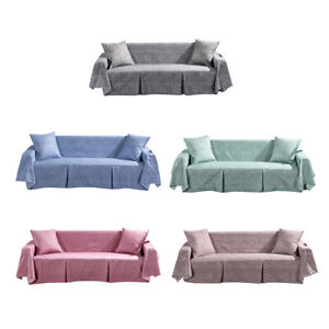 2/3 Seater Sofa Cover Pet Protector Couch Slipcover with 2 Cushion Cover