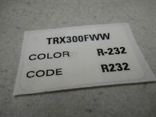 Honda NOS TRX300, 1998, Label (Type 6), # 87565-HM5-A10ZD   S-137