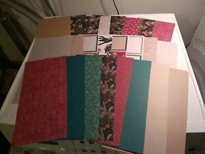 24X  CARDBOARD/SCRAPBOOKING/CRAFTS 30X15 CM/2 SIDE/ECLECTIC   COLL.(ECCOL01)