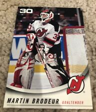 New Jersey Devils 2001-02 Team Issue Modell's Goalie Martin Brodeur Card