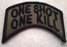 "''ONE SHOT ONE KILL"" Military Veteran Sniper / Biker Rocker Patch PM0880 EE"