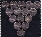 2001 BUDWEISER NFL SUPER BOWL COMMEMORATIVE MEDALLIONS 15 COIN SET CANADIAN MINT