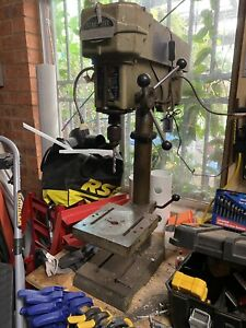 Industrial 750W Bench Drill Press Workshop Stand 5 Speed 16mm Drill Chuck