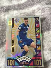 Match Attax 2016/17 - #469 Jamie Vardy (Leicester- 100 club 2016 Limited E