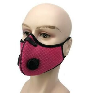 Face Mask - Face Cover - Mesh - Reusable Dual Air Valve Cycling Sport Face Cover
