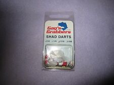 Shad Dart for fishing by Gag's Grabbers GGSD 005 1/16 Red and White 3 PK