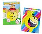 Emoji Smiley Kids Coloring Book and Activity Books Set Smile Face Fun Set of 2