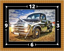 Chevrolet Stepside Wall Clock Present Christmas Birthday (Can Be Personalised)