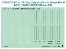 Five Star 700076 1/700 US Navy Shipping Water Gauge Decal