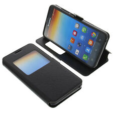 Case for Lenovo A616 Book-Style Window Mobile Phone Protective Black Book