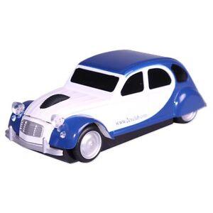 Citroen 2cv Charleston white and blue wireless mouse
