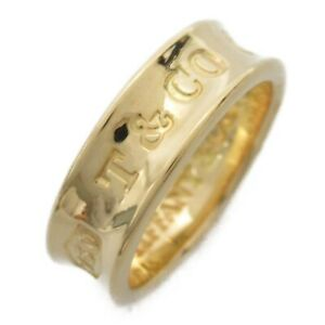 TIFFANY&CO 1837 Ring 18K 750 Yellow Gold Used #9.5