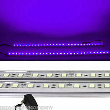 2x 20 inch LED Kitchen Under Cabinet Light Strips Strip Bars Kit Purple 120V