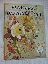 Flowers and Designs to Copy Draw Paint VTG Walter Foster Art Book