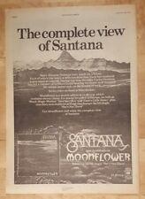 SANTANA MOONFLOWER 1977 edición anuncio completo Páginas 28 x 38cm Póster
