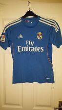 Camicia calcio da uomo-REAL MADRID FC-ADIDAS-AWAY 2013-2014 - Blu & Bianco