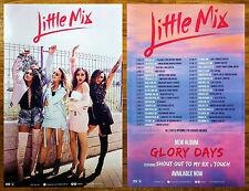 LITTLE MIX Glory Days 2017 Ltd Ed RARE Tour Poster +FREE Dance Pop R&B Poster!