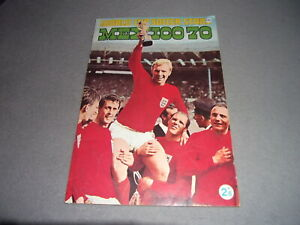 VINTAGE MEXICO 1970 WORLD CUP SOCCER STARS STICKER ALBUM