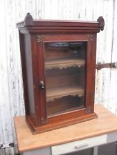 Antique Wall Mounted Cupboard Cabinet,    Display Cabinet