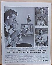 1958 magazine ad for RCA TV sets - Wireless Wizard Remote Control, Lambert TV