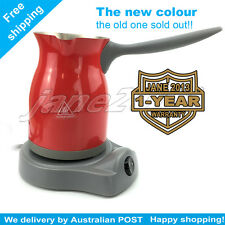 RED Electric Turkish coffee maker with Sensor Coffee will Nevery Spilling Out